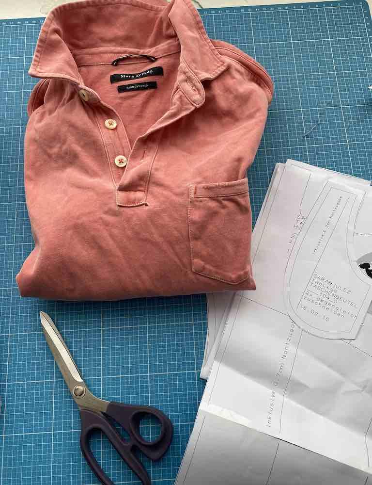 Upcycling Hose aus Shirt