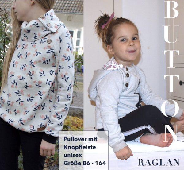 Kinder Pullover BUTTON RAGLAN Kids Titel